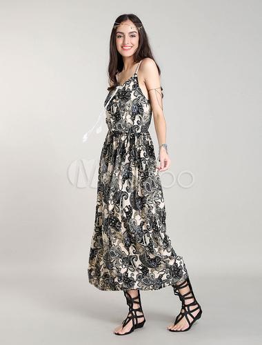 robe longue boheme robes bohemian robe d 39 t straps. Black Bedroom Furniture Sets. Home Design Ideas