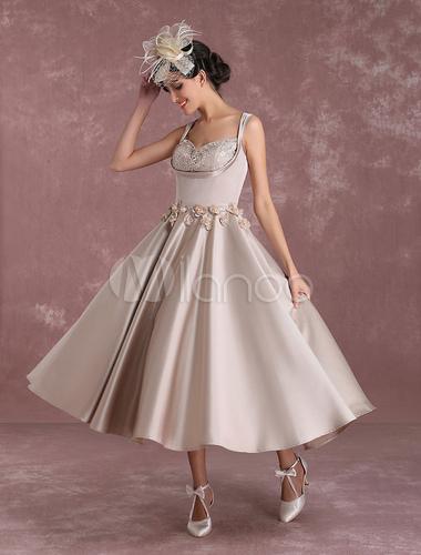 robe de mari e vintage princesse taille naturelle tissu