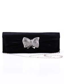 27.3*9.6cm Satin Butterfly Detailed Womens Special Occasion Handbag