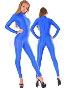 Blue Lycra Spandex Catsuit