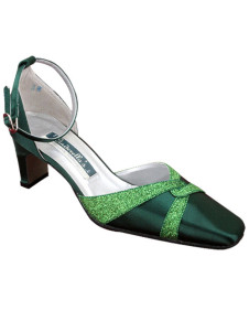 Deep Green Paillette Wedding Pumps