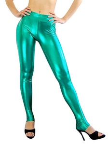 Pantalons Wrestling verts brillants métalliques Halloween