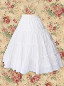 Milanoo UK  Cotton White Lolita Skirt