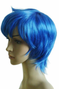Women's 25cm Blue Short Fashion Wig