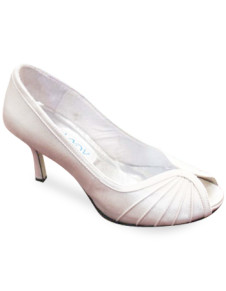 Bridal Wear & Accessories|Shoes|Women's Shoes White 3 1/5'' Heel Peep Toe Satin Wedding Pumps