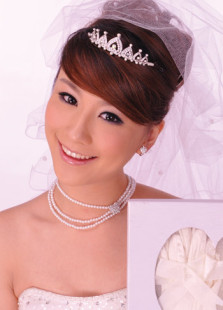 Image of Argenteo lega bianca imitazione nozze perle gioielli da sposa Set
