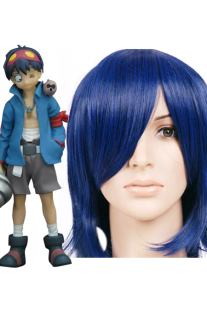 Image For Deep Blue 35 centimetri Gurren Lagann Simon Nylon Wig Cosplay