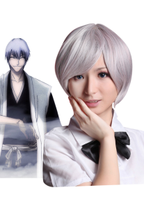 Image For Silver 32 centimetri ue Gray BLEACH Ichimaru Gin Nylon Cosplay Wig