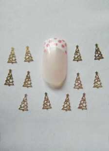 christmas-tree-shape-golden-alloy-50-piece-nail-stickers