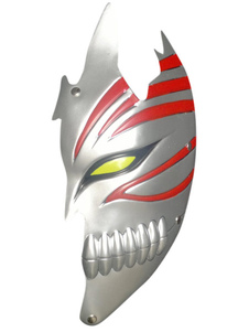 Cool Silvery PVC Bleach Kurosaki Ichigo Hollow Half Face Cosplay Mask