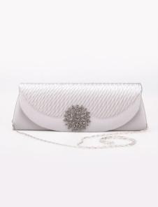 Milanoo UK  28*9cm Attractive Brocade Rhinestone Flower Womens Special Occasion Handbag