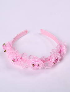 beautiful-pink-imitated-silk-lace-flowers-hair-band-girls-barbie-costumes
