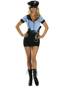 Sweet LIght Blue 100 Dacron Army Girl Costume