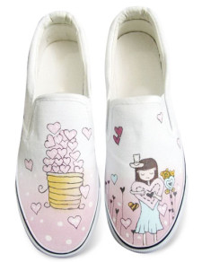 white-canvas-womens-painted-shoes