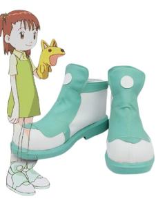 White Green 1 15 Heel Digimon III Kato Juri Faux Leather Cosplay Shoes
