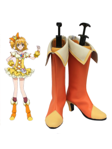 Orange 2 Heel PRETTY CURE Faux Leather Cosplay Shoes