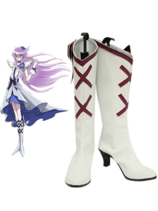White 2 34 Heel PRETTY CURE Faux Leather Cosplay Shoes