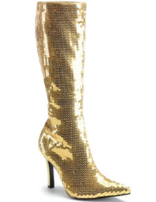Golden 4 110 High Heel Pointed Toe Light Patent Leather Womens Sexy Boots