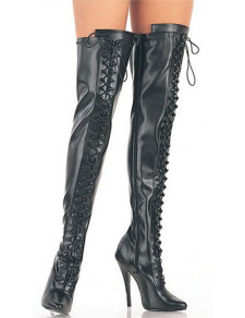 Black Zipper 4 110 High Heel Pointed Toe Patent Leather Sexy Boots For Women