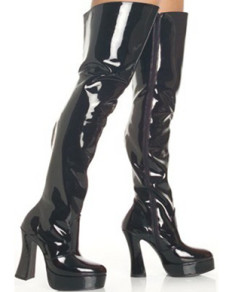 Great Black 5 710 High Heel 1 710 Platform Patent Leather Sexy Boots For Women