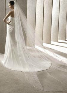 white-one-tier-tulle-wedding-veils-300200cm