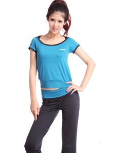 Milanoo UK  Green Polyamide Fibre Spandex Womens Short Sleeves Yoga Clothing