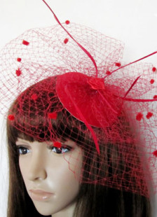 Gorgeous Red Net Womens Hair Hat