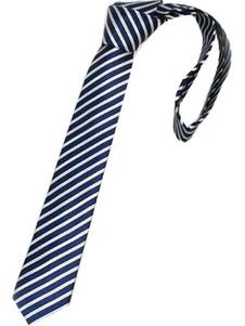 Image of Miglior strisce blu tinto in filo di seta Mens Ties