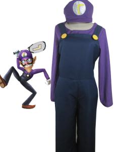 Topgrade Super Mario Bros Waluigi Cosplay Costume