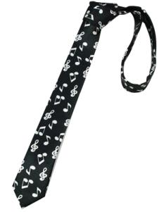 Image of Unique Black Nota cravatte di seta tinto in filo per Man