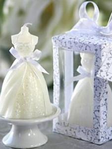 4.5 * 4.5 * 7.5 cm blanco medio ambiente amigable boda velas