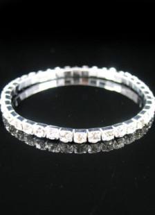 Bracelet de mariée avec rhinestone blanc