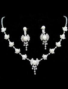 Ensemblede bijoux avec noeud papillion de rhinestone