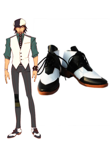 Black White 2 Heel TIGER & BUNNY Wild Tiger Faux Leather Cosplay Shoes