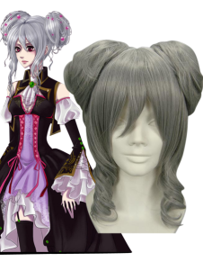 35cm Vocaloid Anime Silver  Hightemperature Resistance Fibre Cosplay Wig