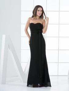 Sweetheart Sash Bow Empire Wasit Chiffon Bridesmaid Dress