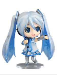 VOCALOID Snow Miku Vinyl PVC Anime Action Figure