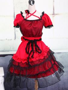 red-cotton-yarn-classic-lolita-dress