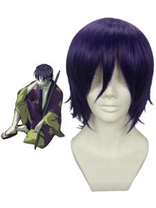 Purple Gintama Takasugi Shinsuke 35cm Anime Nylon Cosplay Wig