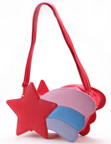 Cute Lolita Pattern Shooting Star PVC PU Womens Handbag