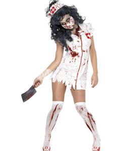 Milanoo UK  Zombie Nurse Satin Scary Halloween Costume