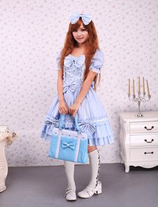 sky-blue-cotton-lolita-op-dress-cape-with-bows-ruffles