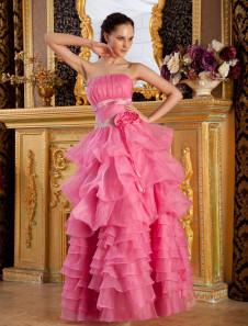 Falda de danza de organza sin tirantes estilo princesa hasta el suelo