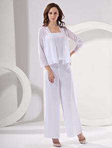 Vêtement mère de mariés en chiffon blanc