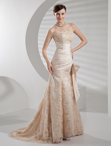 strapless-applique-beading-satin-luxury-wedding-dress