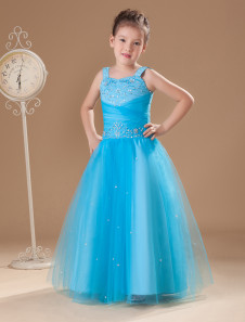 fabulous-blue-gauze-sweetheart-sweep-train-little-girls-dress