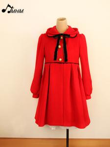 Sweet Long Design Wool Lolita Hoodie Overcoat