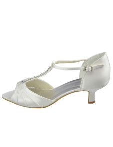 Cute Ivory Satin 1 910 High Heel Wedding Shoes