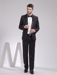 handsome-black-lapel-worsted-groom-wedding-tuxedo