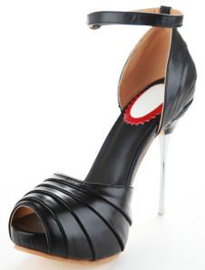 Scarpe a punta aperta splendidi nere